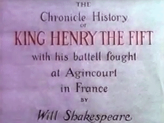 The Chronicle History of Henry the Fift with his battel fought at Agin Court in France